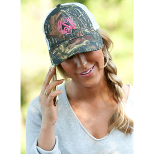 Monogrammed Trucker Cap ~ Pick your color Combos!,Hats - Dirt Road Divas Boutique