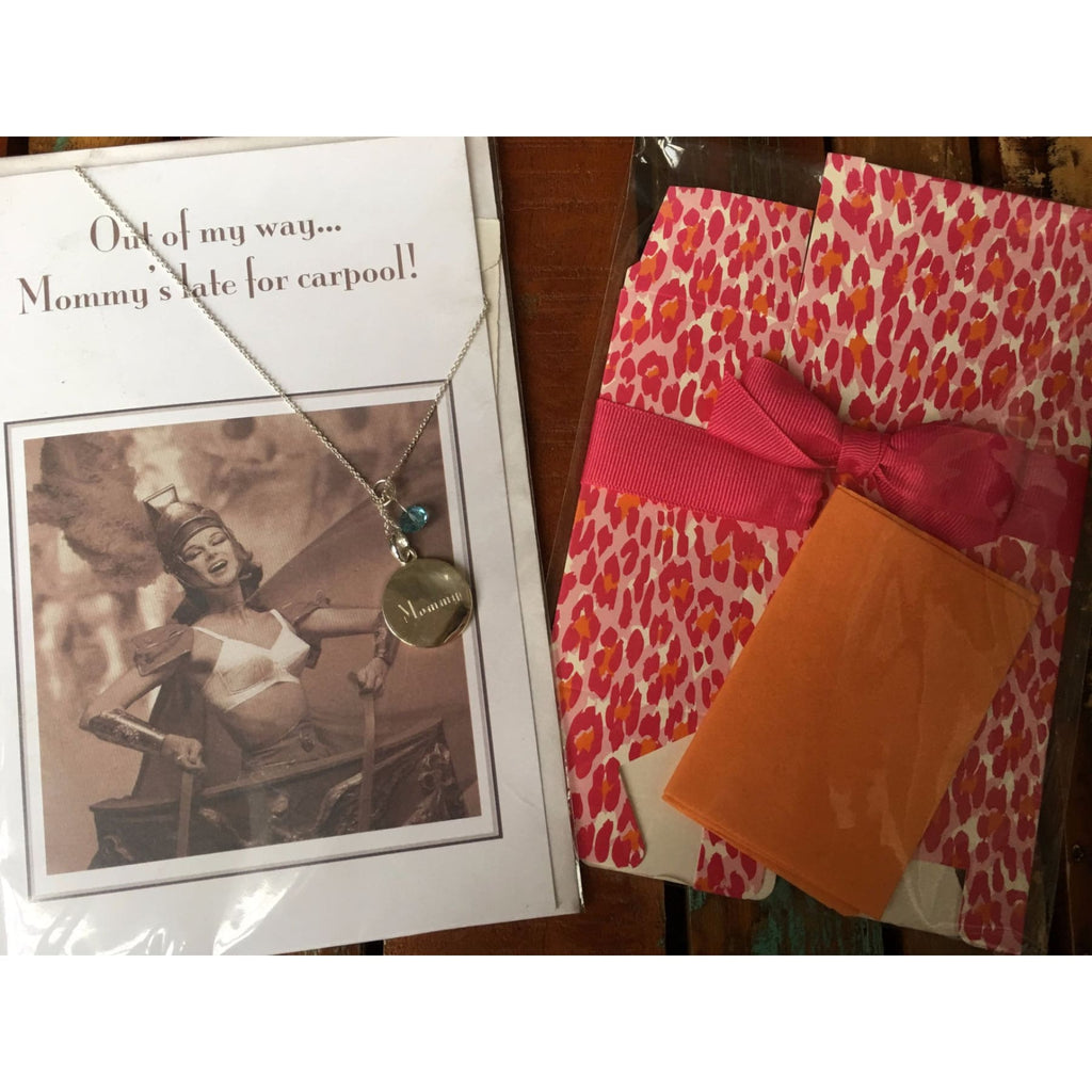 Mothers Day Card with Necklace and Box Set ~ Mommy