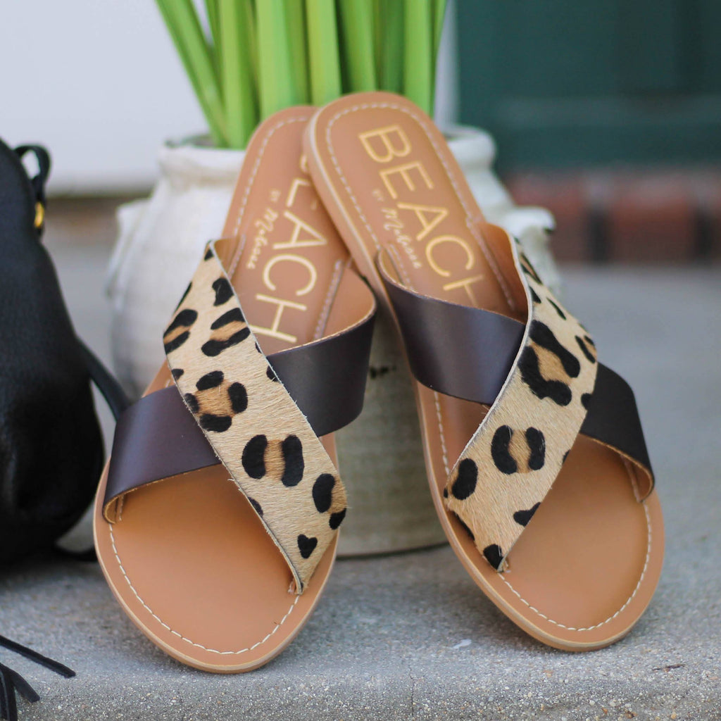 Matisse Pebble Sandal in Leopard/Brown - Rural Haze