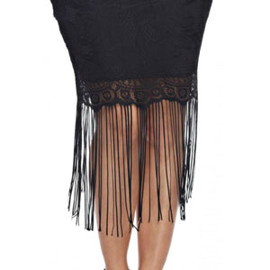 Rolling Ranch Fringe Skirt