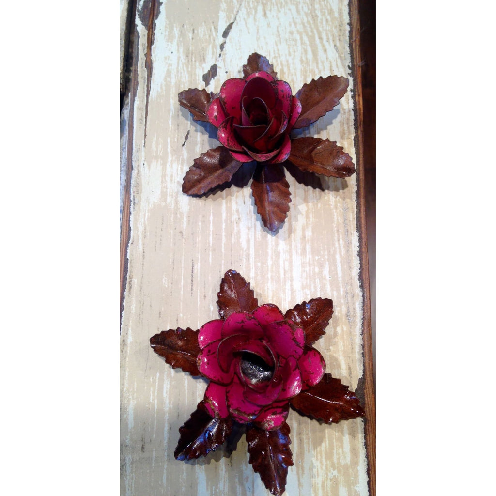 Rustic Metal Pink Flower Magnets,Magnets - Dirt Road Divas Boutique