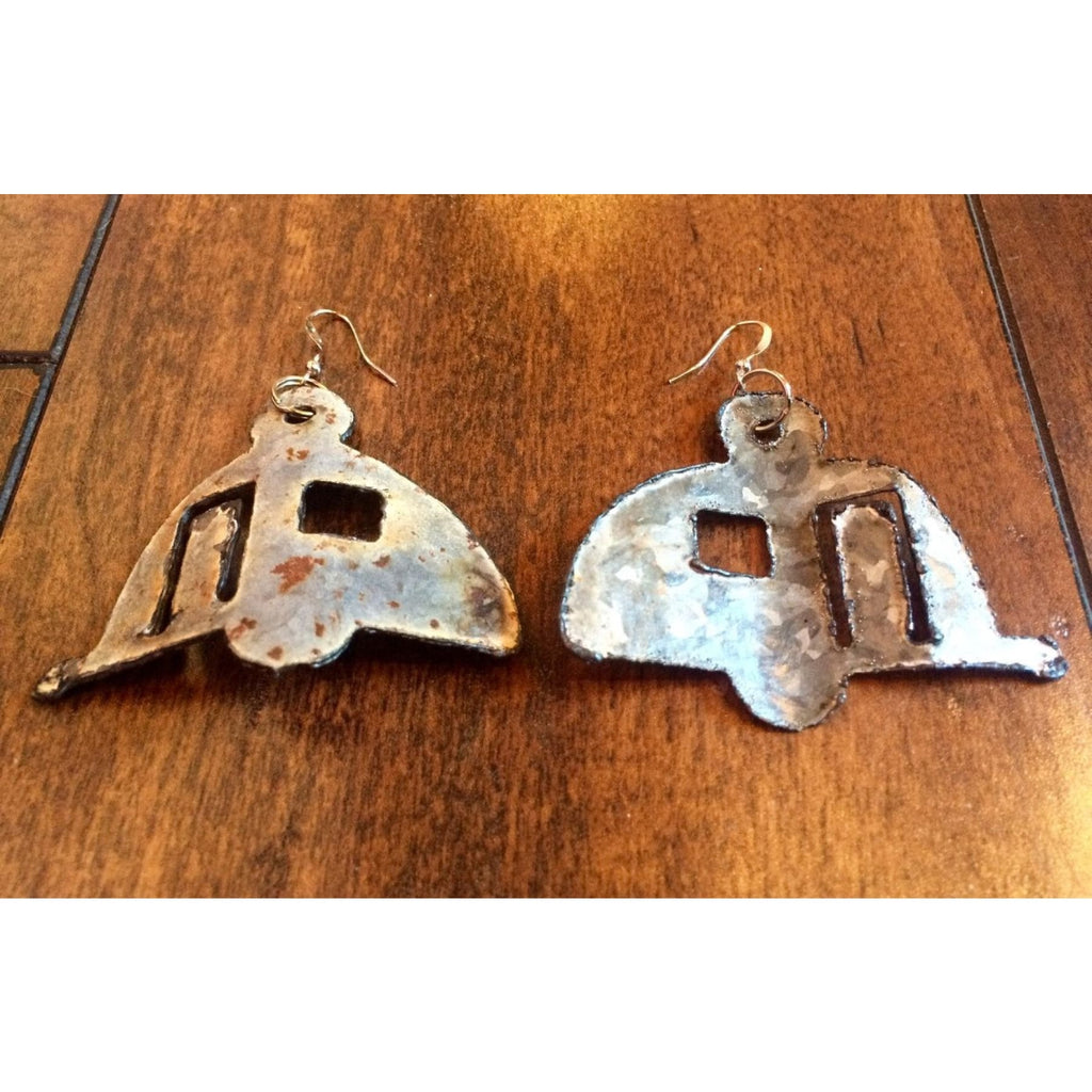 Rustic Tin Trailer Earrings