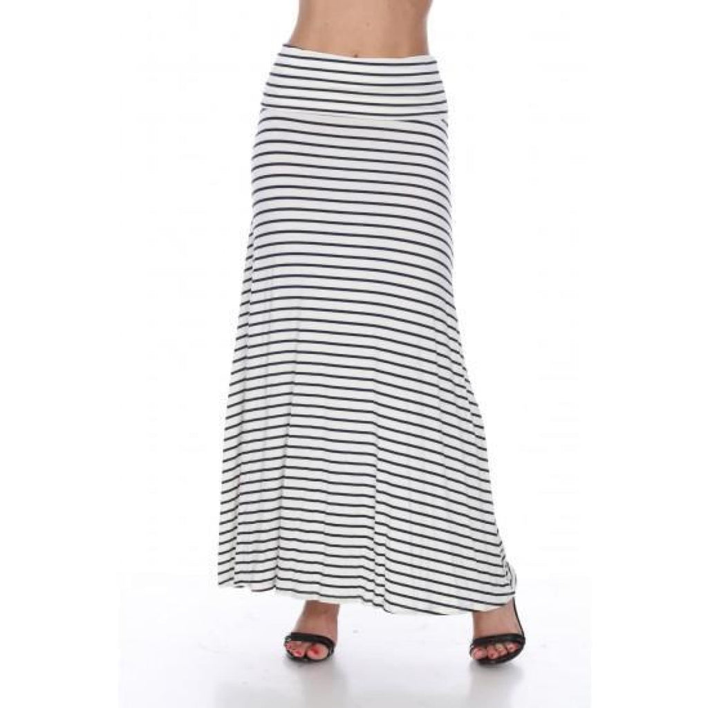 Sadie Striped Maxi Skirt in Navy/White,Skirt - Dirt Road Divas Boutique