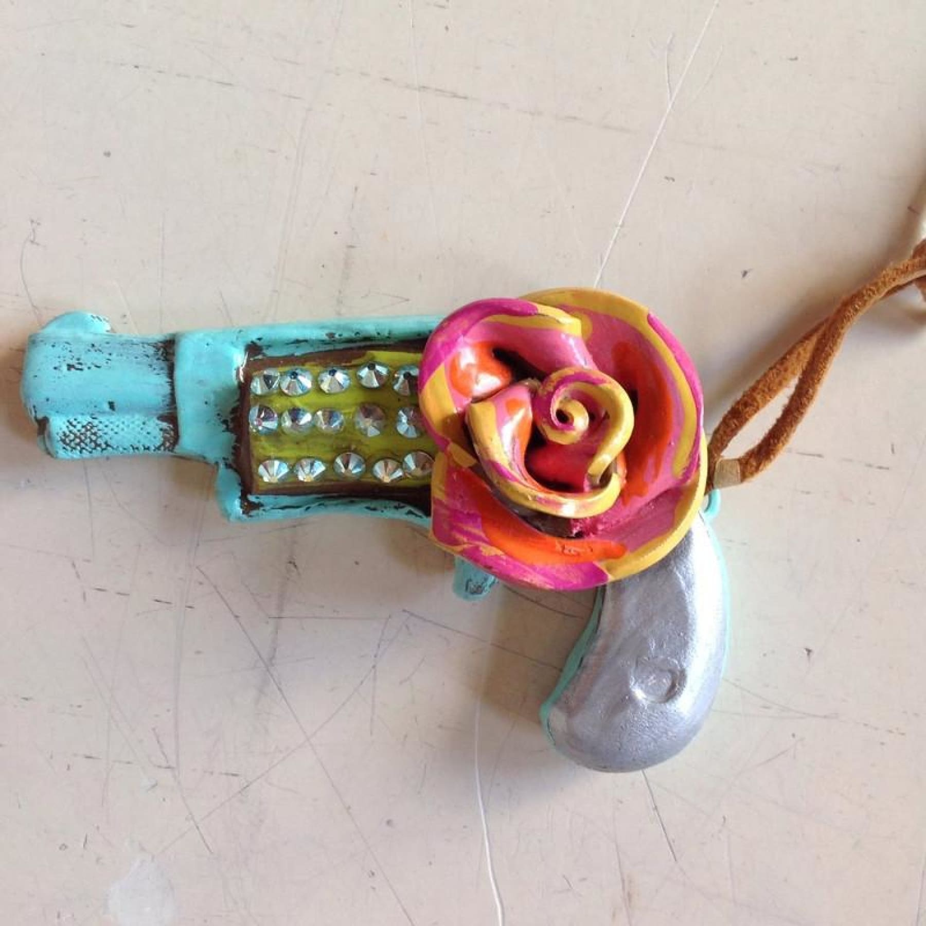 Same Spirit Shoot Out @ OK Pendant - Turquoise & Pink - Necklace