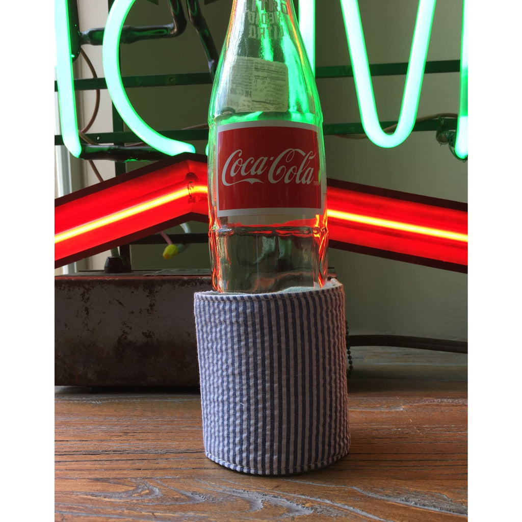 Seersucker Bottle/can wrap,Koozie - Dirt Road Divas Boutique