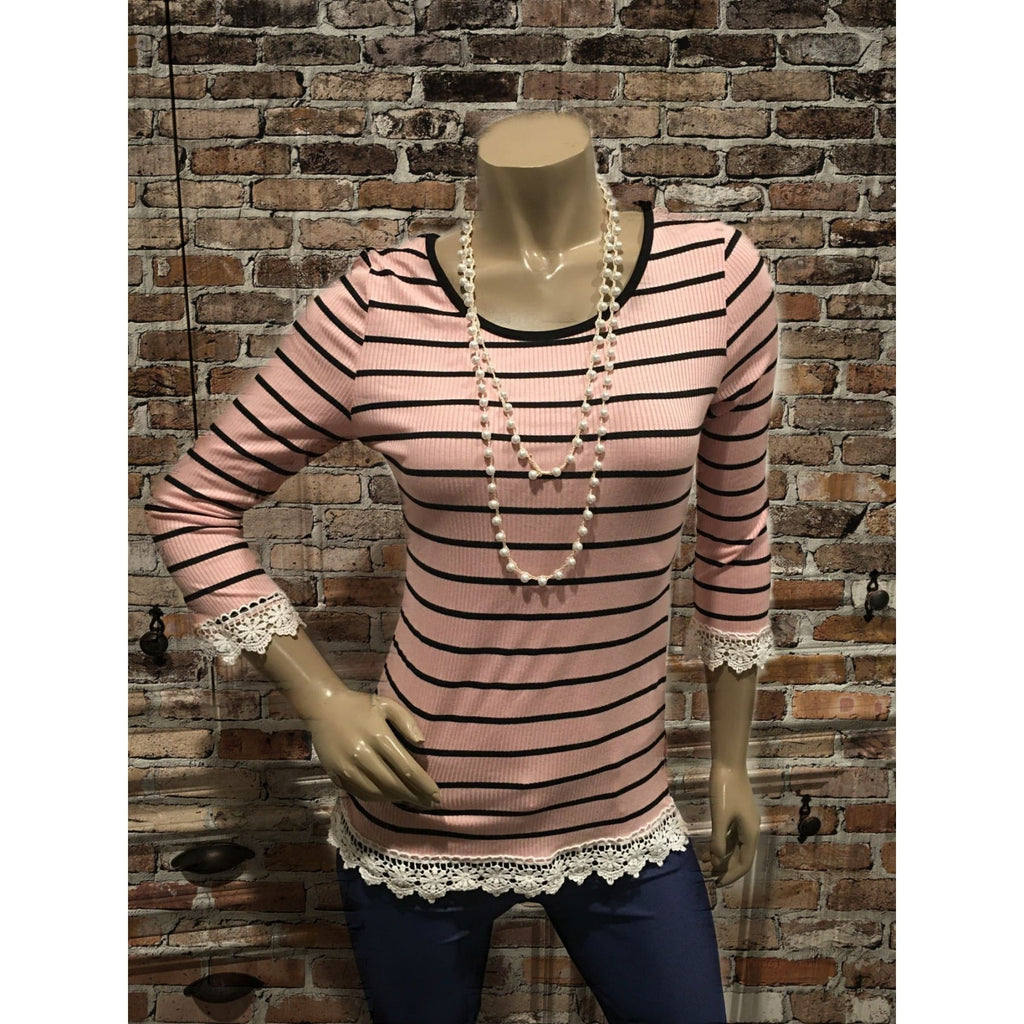 Striped Comfy Sunday Top,Top - Dirt Road Divas Boutique