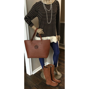 Stripes and Layers Tunic Top,Top - Dirt Road Divas Boutique