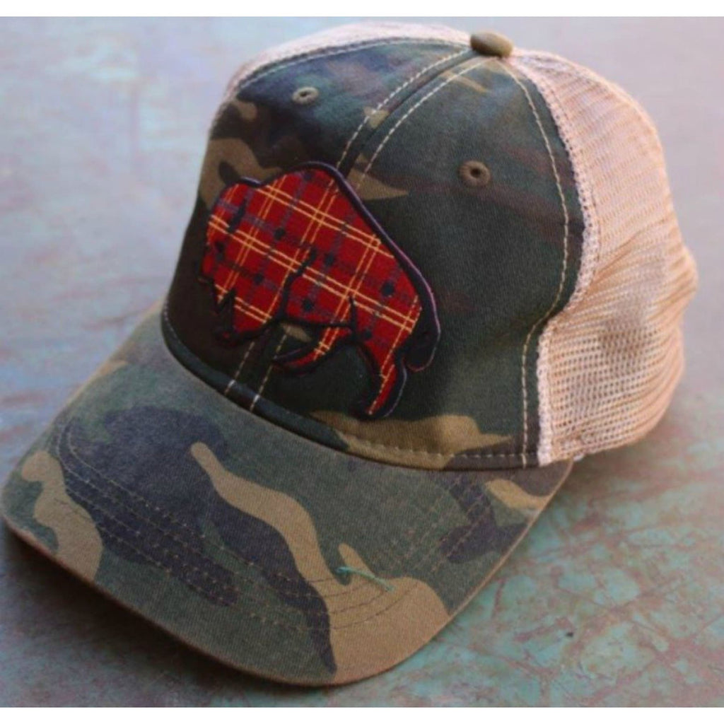 Tartan Plaid Buffalo Cap ~ Camo - Hats