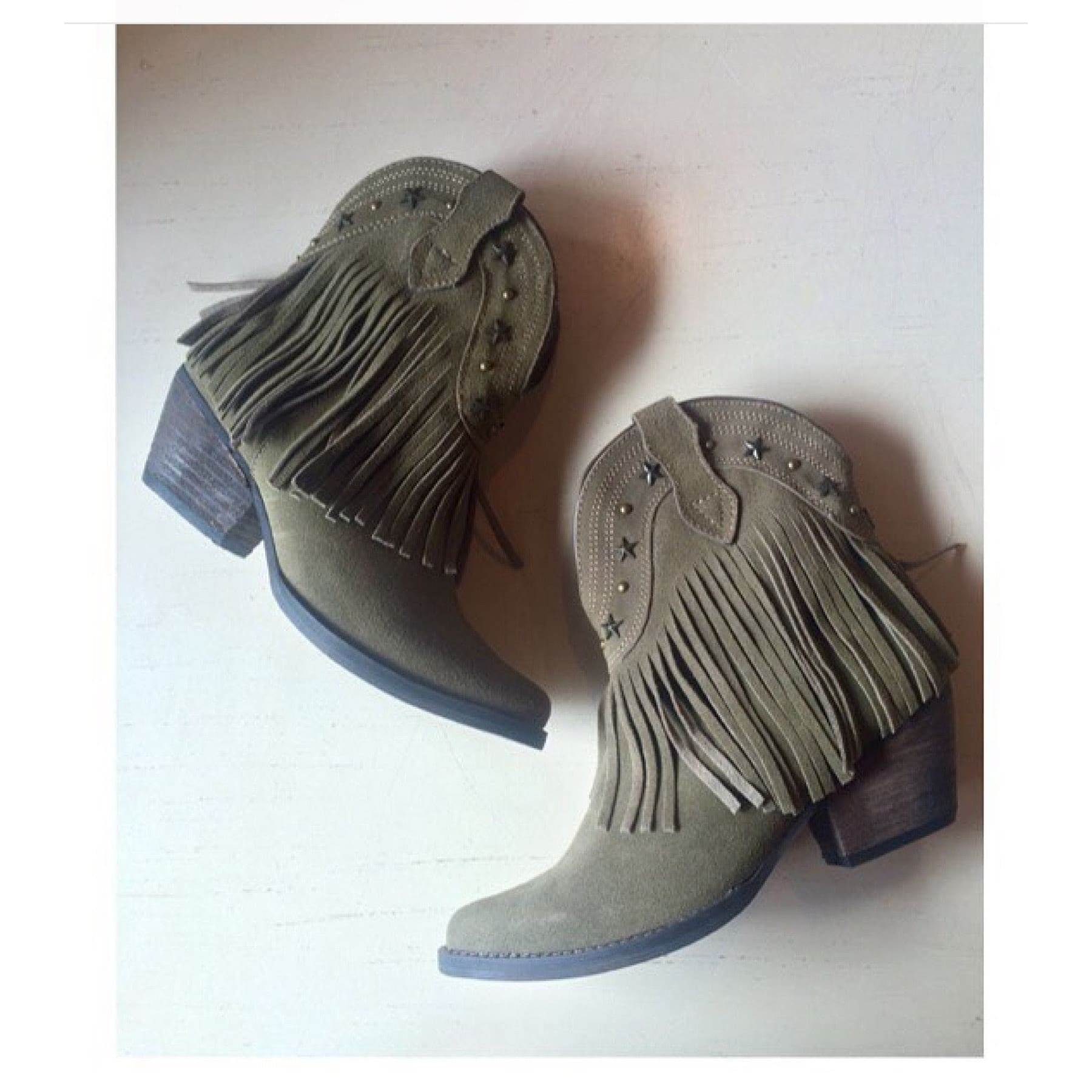 Volatile Brand Deerwood Fringe Booties,Booties - Dirt Road Divas Boutique