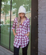 Easy Like Sunday Morning Plaid Tunic Top,Top - Dirt Road Divas Boutique