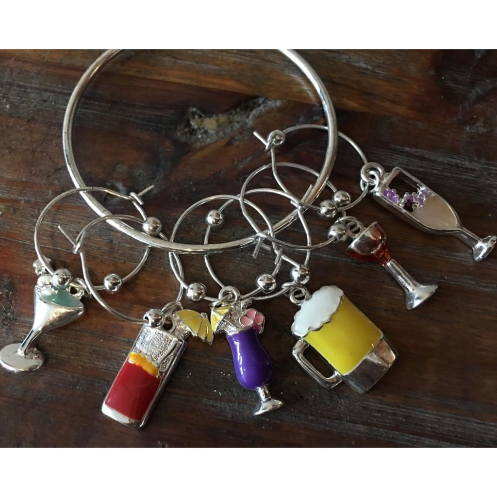 Wine Charm Set ~ Drink Up,Sale - Dirt Road Divas Boutique