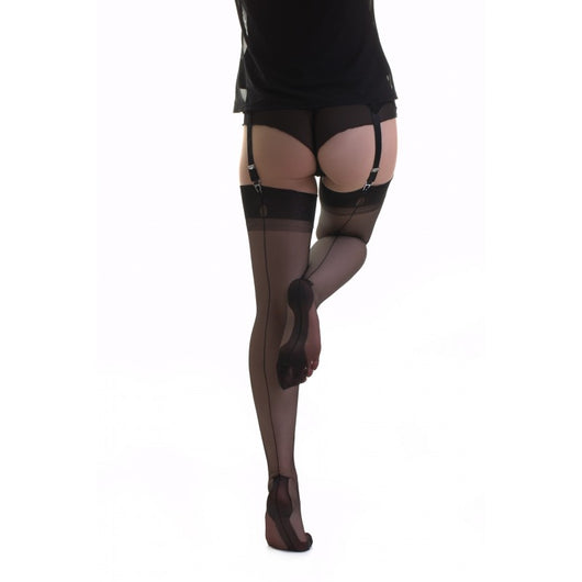 Gio Fully Fashioned Havana Heel Stockings