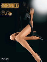 Oroblu Club 20 Pantyhose Tights Sheer to Waist 20 Denier Hosiery