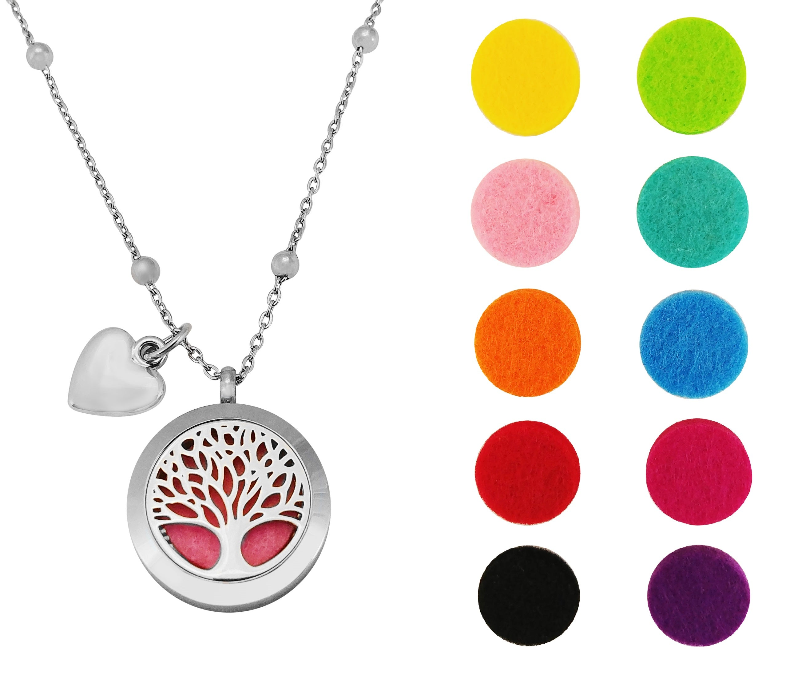 heart locket perfume lava snake and oil colours cross aromatherapy beads necklace with essential adjustable product pendant diffuser stone chain