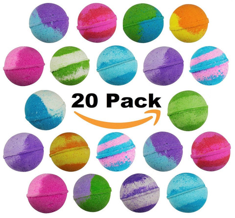 20 Pack of Best Selling Vegan Bulk Bath Bombs by Sense Sation