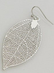 Leaf filigree earring