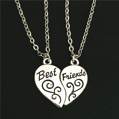 Best Friends Key To Heart Necklace