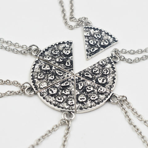6 Piece BFF Pizza Slice Necklace