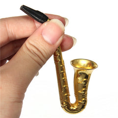 Saxophone Tobacco Metal Pipe