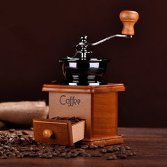 Retro Wooden Coffee Grinder