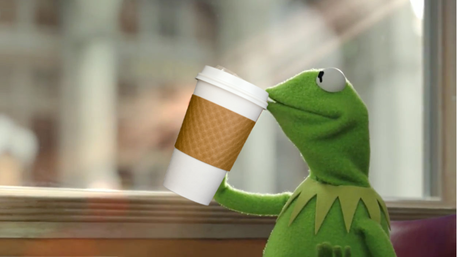 Kermit the Frog pitched coffee in commercials or Frog makes a Big leap from Coffee