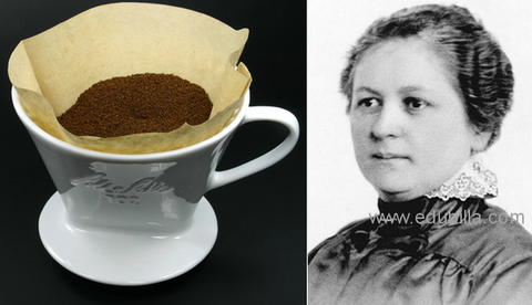 German housewife Melitta Bentz modern coffee filter