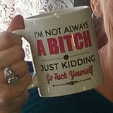 Just Kidding coffee mug white 11 oz.