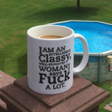I am an intelligent, classy, woman mug white 11oz-Drinkware-Unlawful Threads