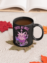Cute As Hell mugs and shirts available