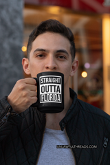 Funny Florida Straight Outta Florida coffee mug 15oz Mug