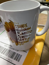 She's Sunshine mixed with a little Hurricane coffee mug 15oz Ceramic Mug