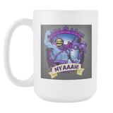Skeletor Coat Of Arms Mug 15 oz. MYAAAH-Drinkware-Unlawful Threads