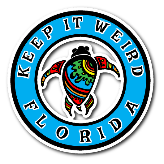 Keep it Weird Florida 3x3 sticker-Stickers-Unlawful Threads