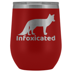 Infoxicated wine tumbler 12oz.