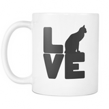 Love Cat coffee mug white 11oz. - Unlawful Threads