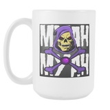 MYAH MYAH SKELETOR XBONES COFFEE MUG 15oz.-Drinkware-Unlawful Threads