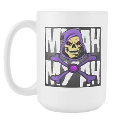 MYAH MYAH SKELETOR XBONES COFFEE MUG 15oz.