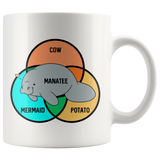 What Even Are Manatees mug 11oz.-Drinkware-Unlawful Threads
