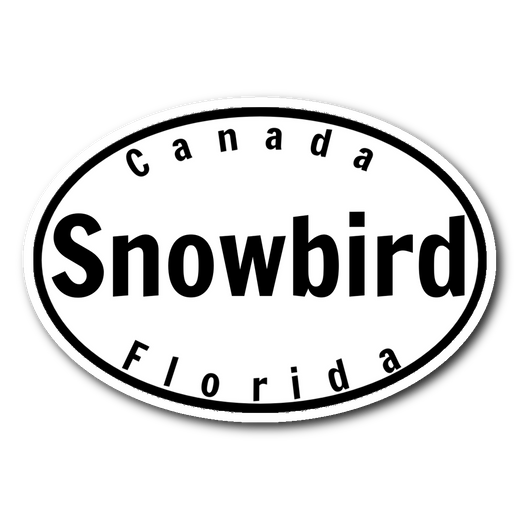 Snowbird Canada/Florida Sticker 3x4