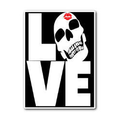 Love Skulls Sticker - Unlawful Threads