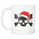 MERRY SKULLMAS SKULL LOVERS!! coffe mug 11 oz.-Drinkware-Unlawful Threads