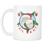 Hail Santa Skull version 11oz. mug-Drinkware-Unlawful Threads
