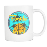 Florida State of Mind Sunshine 11oz. mug-Drinkware-Unlawful Threads