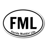 Florida Muddin Life sticker 3x4-Stickers-Unlawful Threads