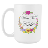 WTF flowers and stuff coffee mug 15 oz.-Drinkware-Unlawful Threads