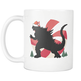 HO HO GODZILLA coffee mug 11 oz.-Drinkware-Unlawful Threads