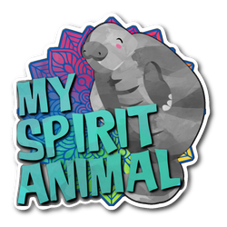 Manatee Spirit Animal sticker 3x3