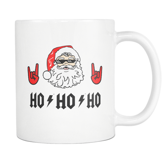 HO HO HO FOR THOSE ABOUT TO JINGLE WE SALUTE YOU coffee mug 11 oz-Drinkware-Unlawful Threads