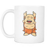 Zen Finger Buddha coffee mug 11 oz. white - Unlawful Threads