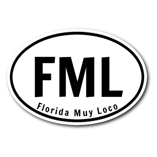 FML Florida Muy Loco sticker 3x4-Stickers-Unlawful Threads